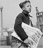 Chicago defender newsboy