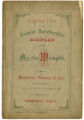 Libretto of the Annual Spectacular Display of the Mystic Memphi 1877