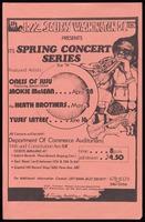 Poster. Spring Concert Series
