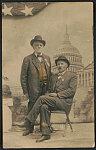 [Civil War veterans Caspar I. Cook and James Hane of Co. C, 81st New York Infantry Regiment at the 1915 G.A.R. Encampment, Washington, D.C.]