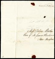 Fragment to] Miss Debora[h] Weston [manuscript