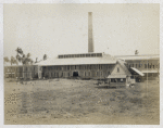 Back view of factory building