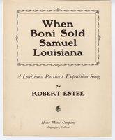 When Boni sold Samuel Louisiana