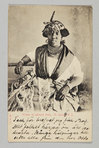 Woman in national dress. St. Lucia. W. I.
