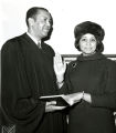 C. DeLores Tucker and Judge A. Leon Higginbotham at City Hall