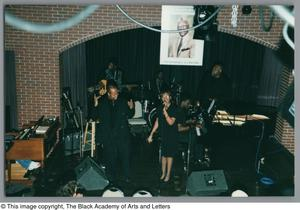Photograph of the Tribute performance stage, featuring Sandra Kaye Al Lipscomb Tribute