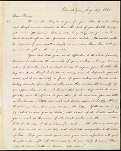 Letter from William Lloyd Garrison, Brooklyn, [Conn.], to Henry Egbert Benson, Aug. 27, 1836