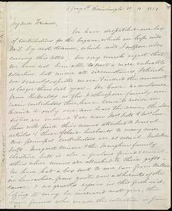 Letter from Eliza Wigham, 5 Gray St[reet], Edinburgh, [Scotland], to Anne Warren Weston, 12-11-1851