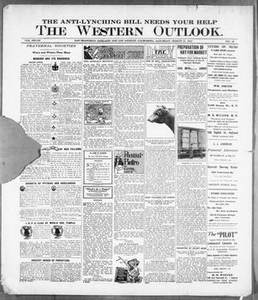 Thumbnail for The Western Outlook. (San Francisco, Oakland and Los Angeles, Calif.), Vol. 28, No. 28, Ed. 1 Saturday, March 25, 1922 The Western Outlook
