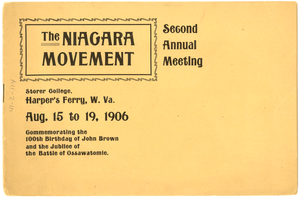 Thumbnail for Niagara Movement Second Annual Meeting Program Copy 2