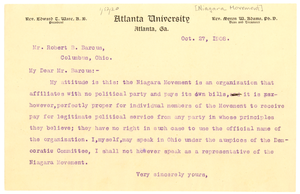 Letter from W. E. B. Du Bois to Robert B. Barcus