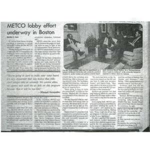 METCO lobby effort underway in Boston.