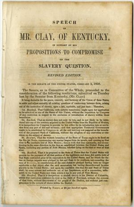 Speech of Mr. Clay of Kentucky, in support of his propositions to compromise on the slavery question.