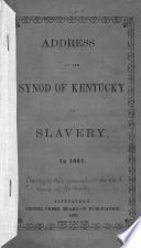 Address on slavery