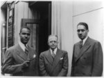 [Roy Wilkins, Walter White, and Thurgood Marshall, all posed half-length, facing front, standing, with Wilkins holding pipe]