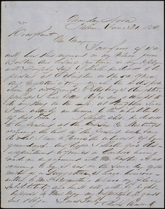 Letter from Chales Lenox Remond, Salem, [Massachusetts], to Samuel May, 1852 June 21