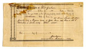 [Tax receipt with list of slaves]
