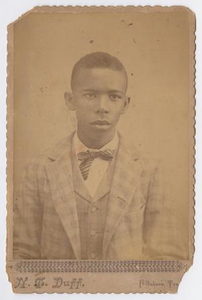 Unidentified Young African American Man in Suit