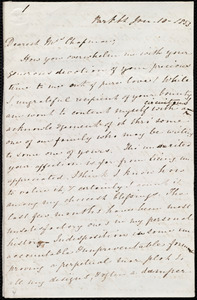 Letter from Mary Anne Estlin, Park St., [Bristol, England], to Maria Weston Chapman, Jan. 10, 1853