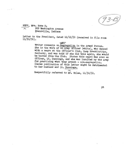 Letter from Rose H. Hepp to President Harry S. Truman, with Attached Memorandum