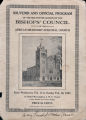 Souvenir and official program of the mid-winter session of the Bishops' Council of the African Methodist Episcopal Church, from Wednesday, Feb. 14 to Sunday, Feb. 18, 1923 at Bethel Metropolitan A.M.E. Church, Sumter and Taylor Streets, Columbia, S.C.