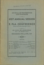 Journal of Proceedings and Year Book of the 61st Annual Session of the East Florida Conference, African Methodist Episcopal Church