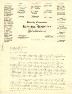 Letter from James Bond to W. E. B. Du Bois