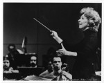 Music Professor Frances Steiner conducting orchestra