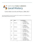 Scotts Valley Councils and Mayors