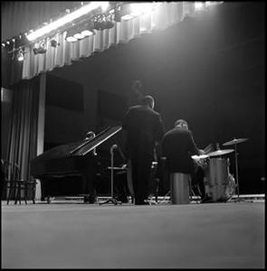 [Dave Brubeck Quartet on North Texas State University stage]