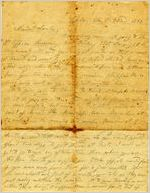 Letter, Alex W. Feemster to Loulie Feemster; 10/22/1863