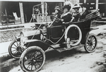 Madam C.J. Walker (driving) with (left to right) her niece Anjetta Breedlove; Madam C.J. Walker Manufacturing Company factory forelady (manager) Alice Kelly; and Walker Company bookkeeper Lucy Flint