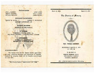 Thumbnail for The service of memory for Rev. Thomas Gardner, Wednesday, March 17, 1976, at 1:00 p.m., to be held at Christ Church U.C.C., 3700 Myrtle Avenue, Detroit, Michigan, Rev. Joseph Earle Lloyd, officiating