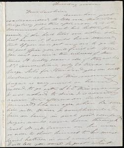 Letter from Deborah Weston to Caroline Weston, Thursday noon, [1847 May 28]