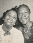 Portrait of activist Bessie Mitchell (left) and actress Beah Richards
