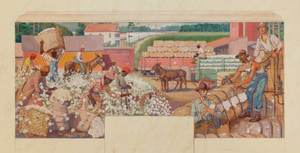 Cotton Scene (Study for Hartselle, Alabama Post Office Mural)