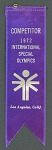 Special Olympics ribbon won by Loretta Claiborne, 1972
