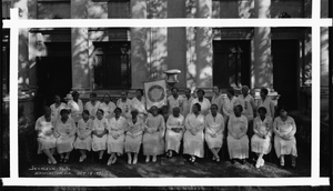 Washington, D.C., Oct. 19 1931 [posed group of women from the Order of the Golden Circle : cellulose acetate photonegative, banquet camera format]
