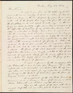 Letter from William Lloyd Garrison, Boston, [Mass.], to Samuel Joseph May, July 28, 1834