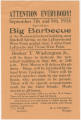 Handbill for a fundraising barbecue held at the Rosenwald school in Chambers County, Alabama.