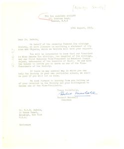 Letter from Aldridge Society to W. E. B. Du Bois