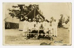 Photo postcard: Cooks of Free Soil Civilian Conservation Corps Camp, 1935