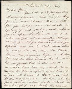 Letter from Edward Morris Davis, Philad[elphia], [Penn.], to Maria Weston Chapman, 10/19 1847
