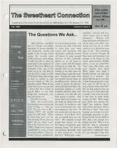 The Sweetheart Connection Vol. 6 No. 4 (Fall 1998)