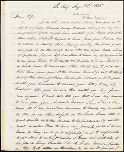 Letter from Amos Augustus Phelps, Le Roy [N.Y.], to Charlotte Phelps, Aug. 22d. 1835