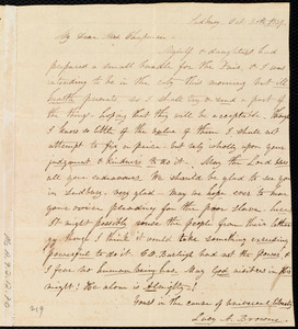Letter from Lucy A. Browne, Sudbury, [Mass.], to Maria Weston Chapman, Oct. 30th, 1839