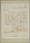 Letter to Consul [Richard] O'Brien