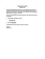 Adams, Jane: Rebuttal File