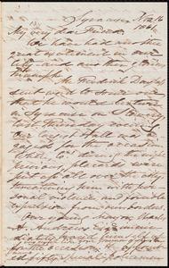 Letter from Samuel Joseph May, Syracuse, [N.Y.], to William Lloyd Garrison, Nov[ember] 16 1861