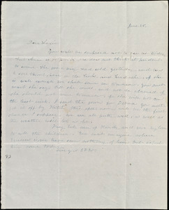 Letter from Emma Forbes Weston to Lucia Weston, June 28, [1842]